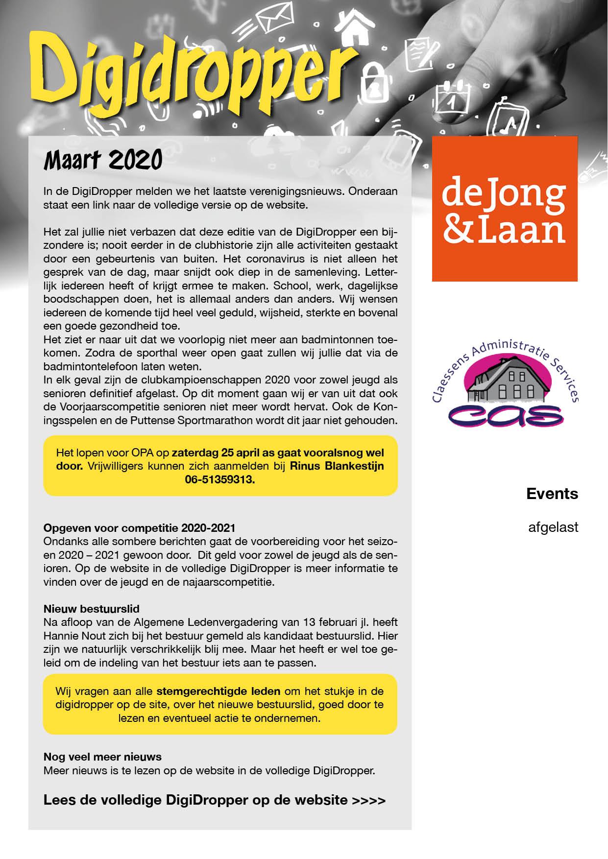 digidropper maart 2020